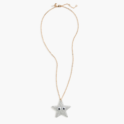 Girls' Max the Monster glitter sparkle star necklace