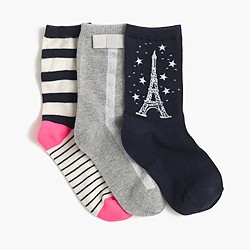 Girls' spring trouser socks three-pack