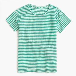 Relaxed linen T-shirt in stripe