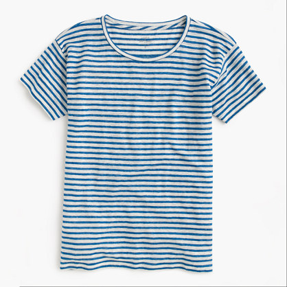 Relaxed linen T-shirt in stripe