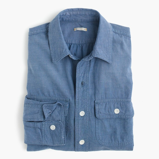 Chimala® vintage scout shirt in denim