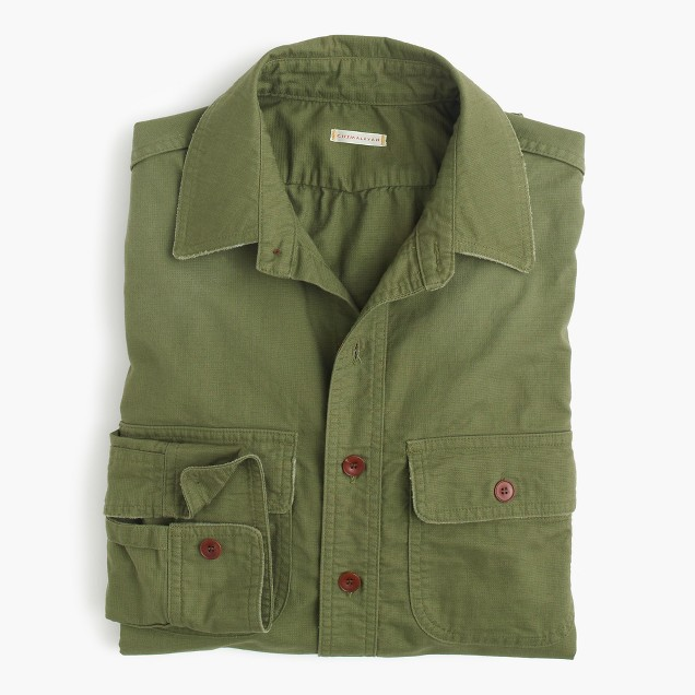 Chimala® vintage scout shirt in khaki green