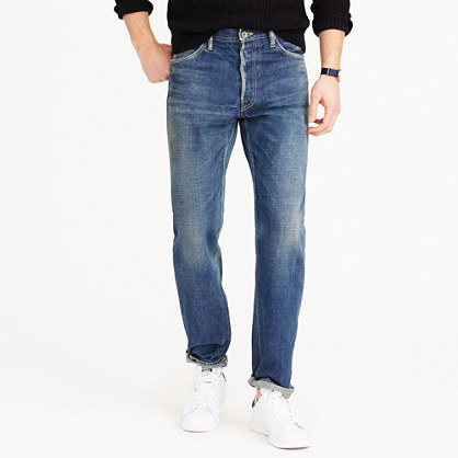 Chimala® Japanese selvedge jean in washed narrow fit