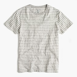Nautical-striped T-shirt in heathered cotton