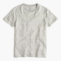Tall nautical-striped T-shirt in heathered cotton