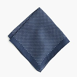 Italian linen pocket square in star print