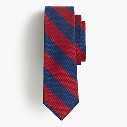 Grenadine silk tie in old-school stripe