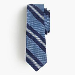 Grenadine silk tie in blue stripe