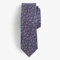 Italian silk tie in floral jacquard