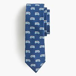 Italian silk tie in vintage van print