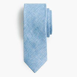 Irish linen-cotton tie in solid