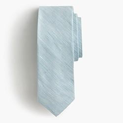 Irish linen-cotton tie in solid