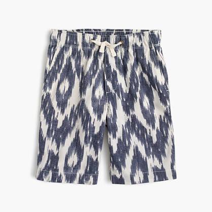 Boys' pull-on short in ikat