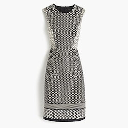 Petite paneled geometric dress