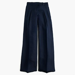 Collection wide-leg pant in silk-linen