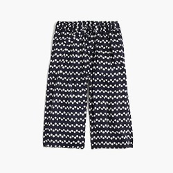 Girls' culotte in zigzag polka dot