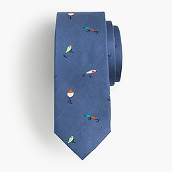 Boys' silk critter tie in fishing lures
