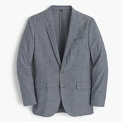 Ludlow summerweight cotton-linen blazer in deep water