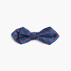 Boys' silk bow tie in sunset stripe