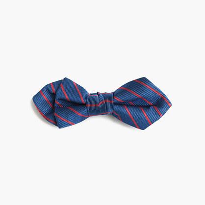 Boys' silk bow tie in sunset stripe