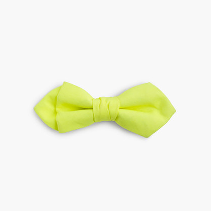 Boys' cotton bow tie in neon