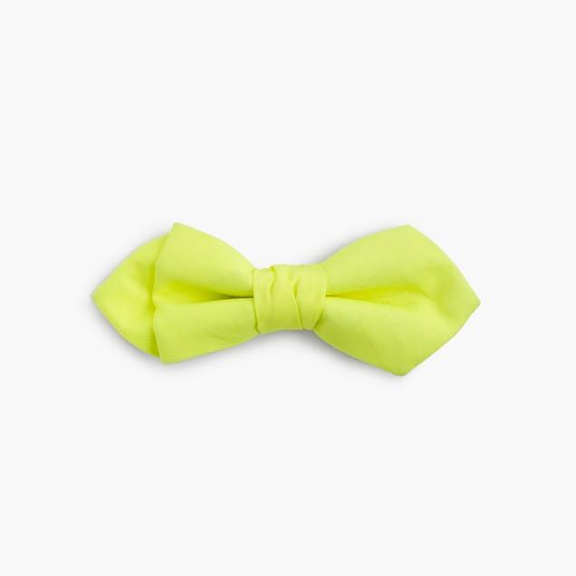 Boys' cotton bow tie in neon