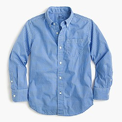 Kids' Secret Wash shirt in microgingham