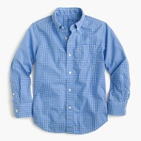 Kids' Secret Wash shirt in microgingham