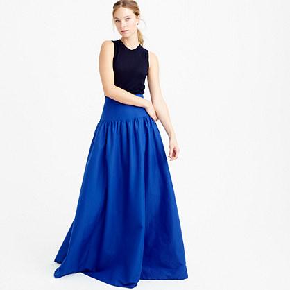 Collection crinoline skirt in deep violet