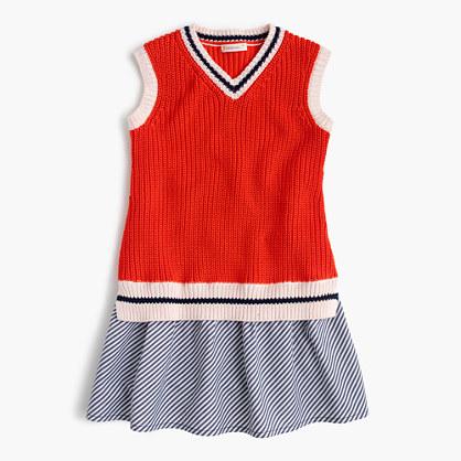 Girls' tennis sweater combo dress