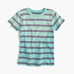 Boys' T-shirt in aqua stripe