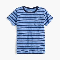 Boys' pocket T-shirt in retro stripe