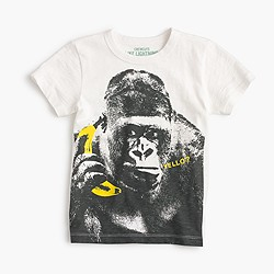 Boys' gorilla on a banana phone T-shirt