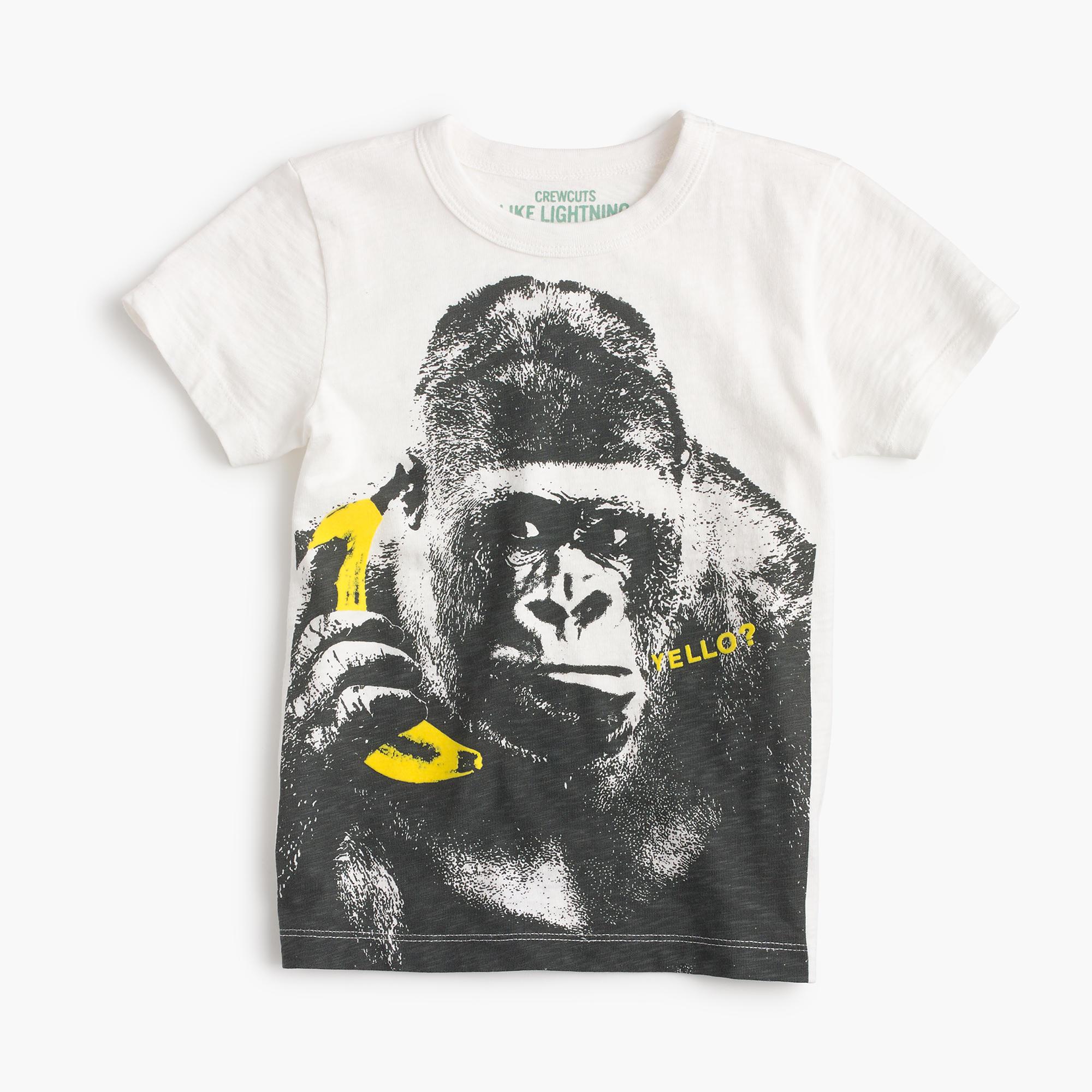 Boys 39 gorilla on a banana phone t shirt j crew for Graphic t shirt shop