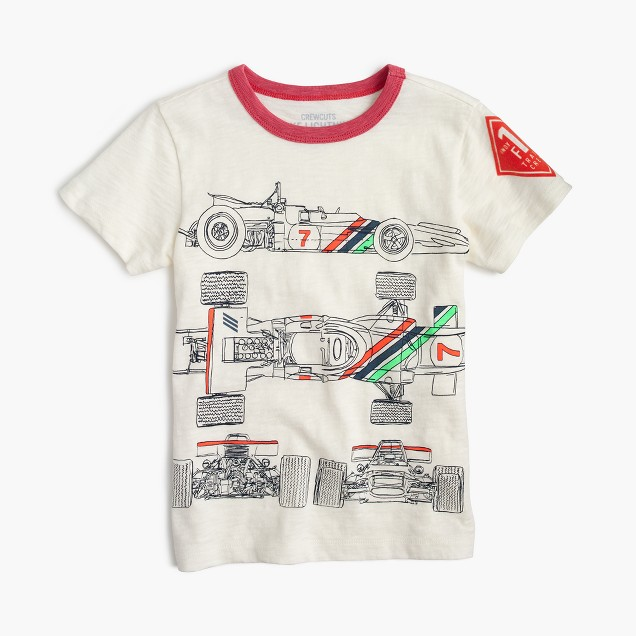 Boys' vintage race car T-shirt