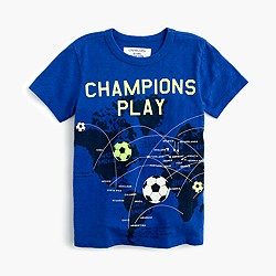 "Boys' glow-in-the-dark ""champions play"" T-shirt"