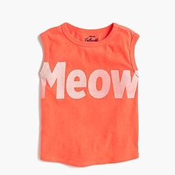 Girls' meow muscle T-shirt