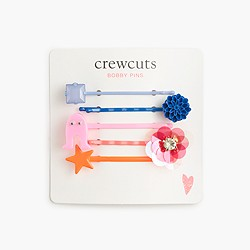Girls' neon bobby pin five-pack