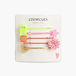 Girls' neon bobby pin pack