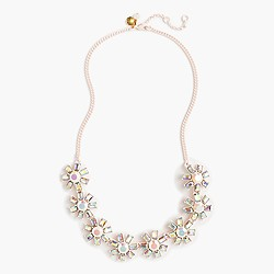 Girls' jeweled flower necklace