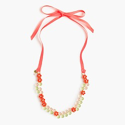 Girls' gumball necklace with flowers