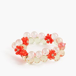 Girls' gumball bracelet with flowers