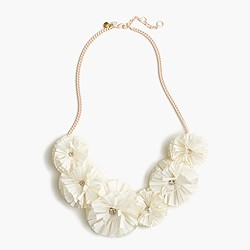 Girls' multi-fringe flower necklace