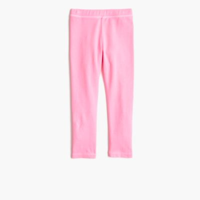 Girls' cropped everyday leggings