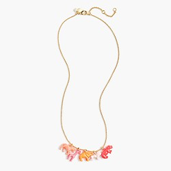 Girls' jungle charm necklace