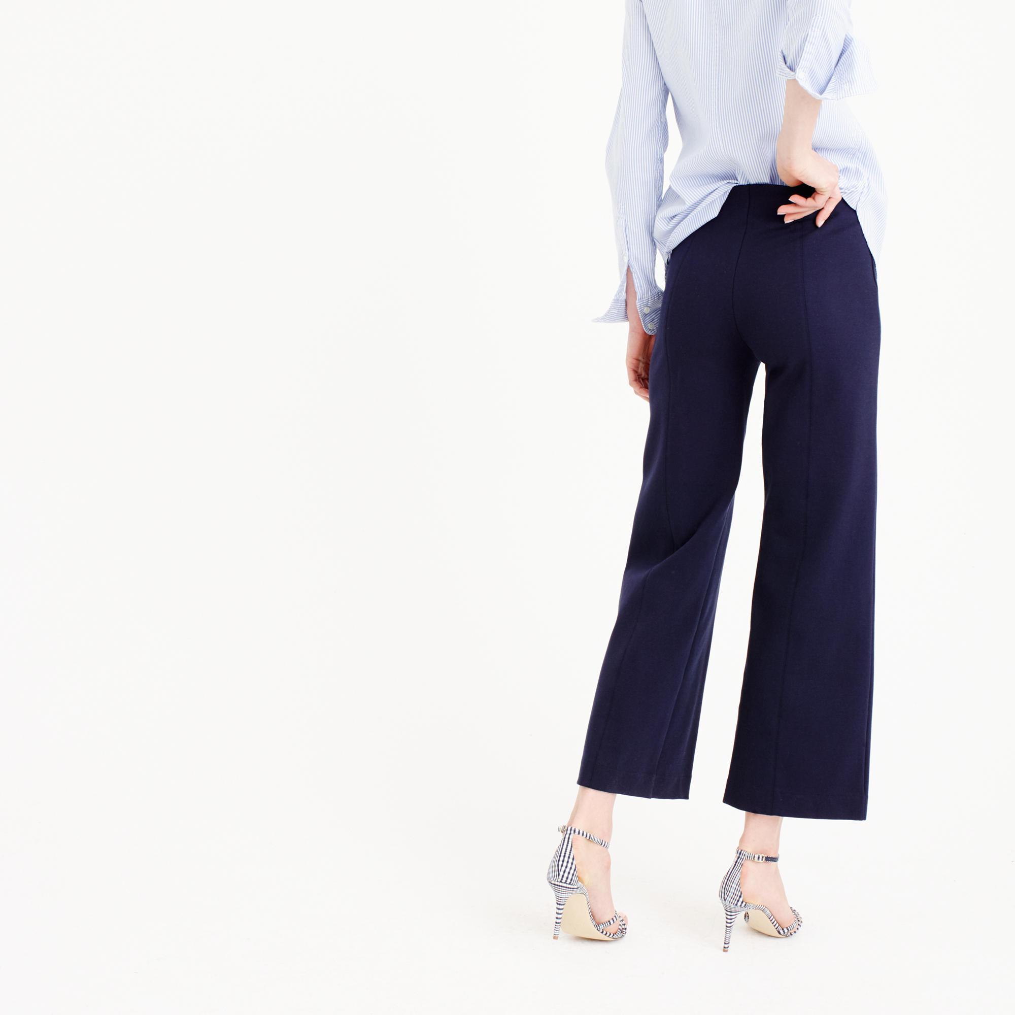 Wide-leg ponte pant : Women novelty | J.Crew