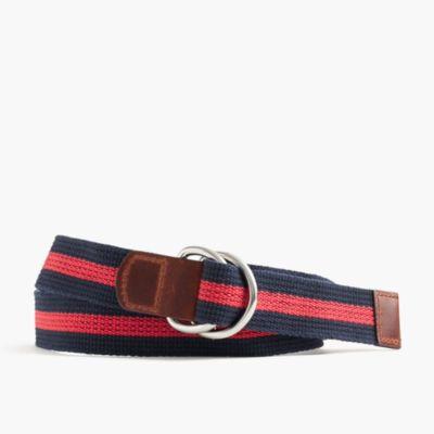 Striped woven cotton belt