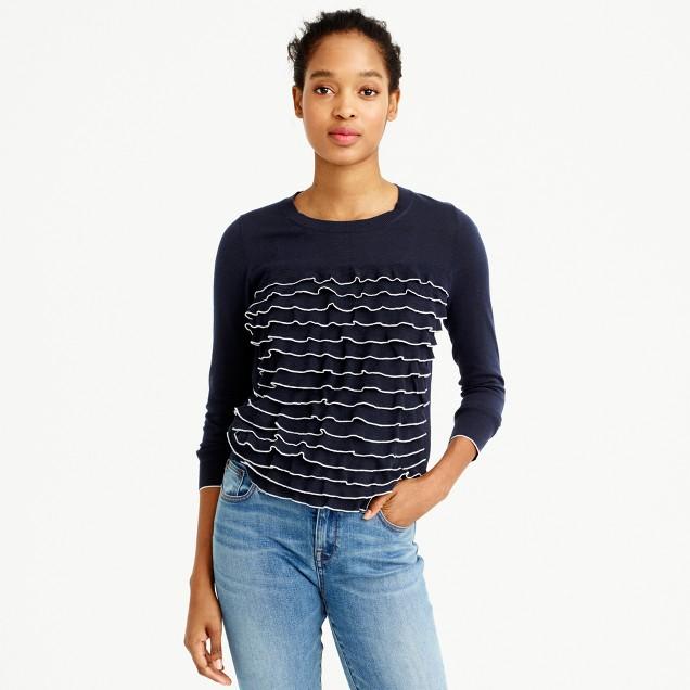 Summerweight ruffle sweater