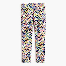 Girls' everyday leggings in zigzag