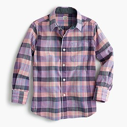 Kids' madras shirt